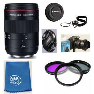 YONGNUO YN60mm 60mm F2 MF Macro Lens Kit for Canon 80D T6I T6 70D 5D 6D T7I