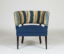 1950's Hollywood Regency Channel Back Chair - Turkish Silk Ikat