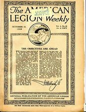 The American Legion Weekly Magazine October 29 1920 ACC 042717nonjhe