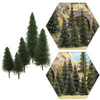 40pcs Model Pine Trees Deep Green Pines For HO O N Z Scale Model Railroad Layout