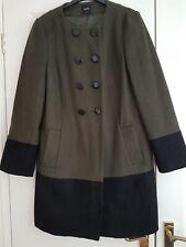 Oasis Coat Khaki Black Coat Size M