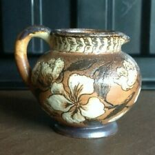 Martin Brothers Miniature Jug with White Flowers Decoration
