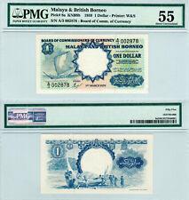 Malaya & British Borneo $1 P#8a (1959) Waterlow PMG 55
