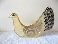 RARE Abraham Palatnik Lucite Acrylic Bird Dove Sculpture Figurine Pal Brazil 699