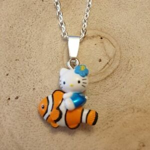 Hello Kitty Clown Fish 18 Inch Necklace, Made with Official Sanrio Charm R1