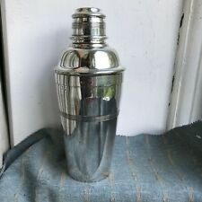 Old Antique Art Deco Silver Plated Cocktail Shaker Barrow & Jackson London 1930s