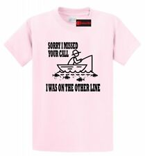On The Other Line Funny Fishing T Shirt Fathers Day Gift Graphic Tee