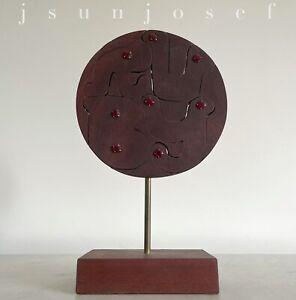 Mid Century John Risley Pop Art Lollipop Cutout Name Puzzle Sculpture *RUBY*