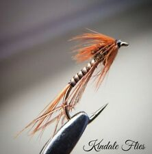 Natural Quill Hopper size 14 (Set of 3) Fly Fishing Flies Trout Wet