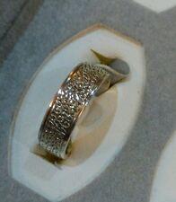 Anello di fidanzamento in argento 4.2 grammi di peso bobbley Pattern o Stacker Anello