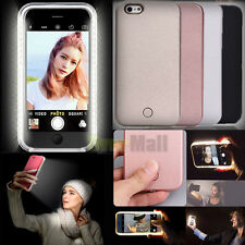 Selfie Luxury Flash Back LED Light Up Case Cover Luminous For iPhone 7 6S 6 Plus