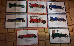 8 x Werbung ESGE Oldtimer, Auto, Sammeltuch, Tuch, Banner, Fahne, 67x47