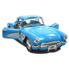 Kinsmart 1:34 Sclae 1957 Chevrolet Corvette Chevy Diecast Model Toy Car BLUE