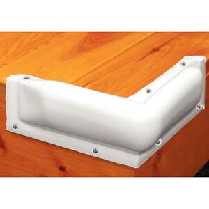 10 x 10 Inch Dock Pro Vinyl Dock Corner Bumper for Boats