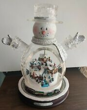2007 Thomas Kinkade White Christmas Masterpiece Edition Crystal Snowman Train