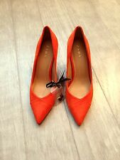 ZARA Women's Mid Heel Shoes(Orange, US  8/EUR 39)
