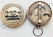 Nautical Sundial Brass Compass World Timer Calendar Compass Marine Pocket Compas