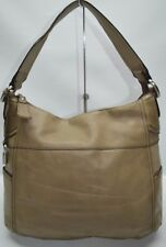 Fossil Light Olive Genuine Leather Large Zip Slouch Hobo Shoulder Bag