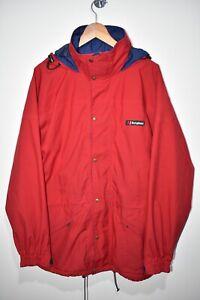 Berghaus GORE-TEX Glissade Vintage Waterproof Red Jacket Hooded Womens UK 16 VGC