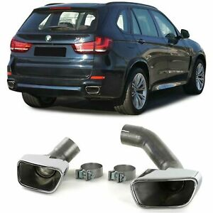 BMW X5 F15 CHROME FINISH EXHAUST PIPE TRIMS TIPS MODEL MANUFACTURED AFTER 2013