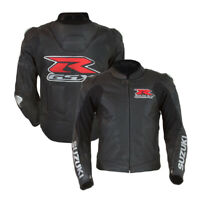 Suzuki Motorcycle Jacket Leather Motorbike Biker Racing Jacket Armour Protection