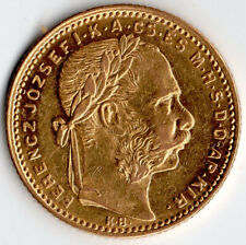 More details for hungary 1883 ferenc józse 20 francs 8 forint solid gold coin 6.44 grams freepost