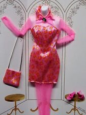 BARBIE 1998 FASHION AVENUE PARTY Hot Pink Animal Print Dress_18157_NEW DeBOXED
