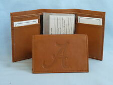 ALABAMA CRIMSON TIDE   Leather TriFold Wallet    NEW    brown 2
