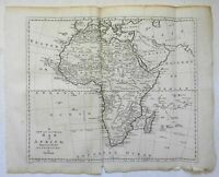 African Continent Unknown Country Mountains of the Moon c. 1785 Bowen map