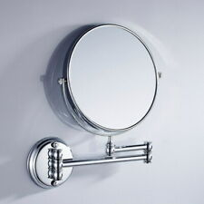 Polished Chrome Makeup Mirror Folding Double Sided Wall Mount 3x Magnification