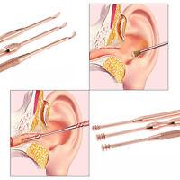 3tlg Ohrlöffelchen Ohrreiniger Ohrenreinigung Saubere Ohrenpflege Top New L8T4
