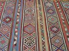 """AHTIQUE 1880s CAUCASIAN KILIM HAND WOVEN WOOL ORIENTAL RUG CLEANED  5' x 9'9"""""""