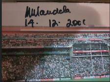 NELSON MANDELA SIGNED RUGBY WORLD CUP 1995 FRAME