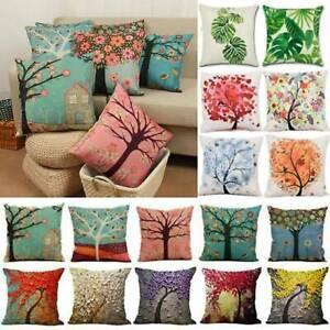Floral Square Pillow Cushion Case Throw Cover Home Garden Sofa Chair Decoration