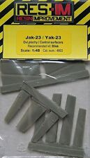 Res-IM 4803 Resin 1/48 Yakovlev Yak-23 Control Surfaces Bilek SALE