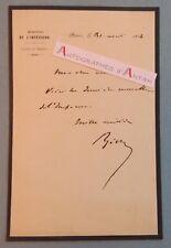 L.A.S 1854 Adolphe BILLAULT Avocat H. politique Empereur Vannes Basse Goulaine