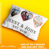 Personalised Photo Pillowcase Cushion Pillow Case Cover Custom Present Hearts
