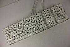 Apple Wired USB Keyboard w Numeric Keypad A1048 White iMac 2 USB Ports Tested