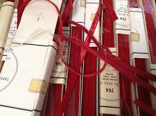 "10 yards Red 1/4"" Velvet Ribbon Fabric 100% Rayon Made in Switzerland"