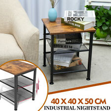 Industrial Side End Table Sofa Accent Bedside Storage Livingroom Coffee Couch
