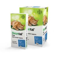 Drontal wormer for Cat & Kittens allwormer 8 tabs worming. Bayer made in Germany