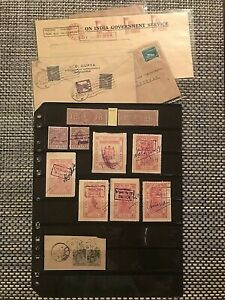 STAMPS INDIA REVENUE-1880+/COMMERCIAL 3 COVERS 1950-55/REGISTERED PAKISTAN#01775