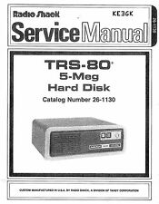 Radio Shack TRS-80 5-Meg Hard Disk Service Manual * PDF * CDROM