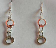 BDSM KINK Handcuff Dangle Earrings by Artisan Slave Violet Jewelry
