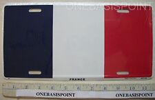 FRANCE FLAG LICENSE PLATE ALUMINUM FRENCH METAL CAR VANITY TAG AUTO SIGN NEW