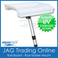 AQUATRACK COMPACT CUTTING BAIT BOARD & ROD HOLDER MOUNT - Boat/Fish/Fishing/Tray