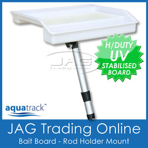 BAIT BOARD ROD HOLDER MOUNT - AQUATRACK COMPACT CUTTING TRAY - Boat/Fish/Fishing