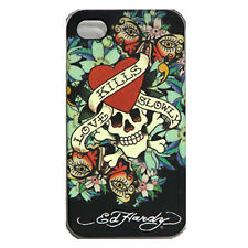 GENUINE NEW ED HARDY SNAP ON BACK TATOO FACEPLACE IPHONE 4 4S LOVE KILLS SLOWLY