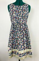 Revival by Dangerfield Sleeveless Bunny and Strawberry Fit and Flare Dress Sz 10