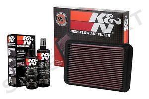 K&N 33-2050-1 Hi-Flow Air Intake Drop in Filter + 99-5050 Cleaning Kit